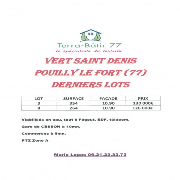 Offres de vente Terrain Vert-Saint-Denis 77240